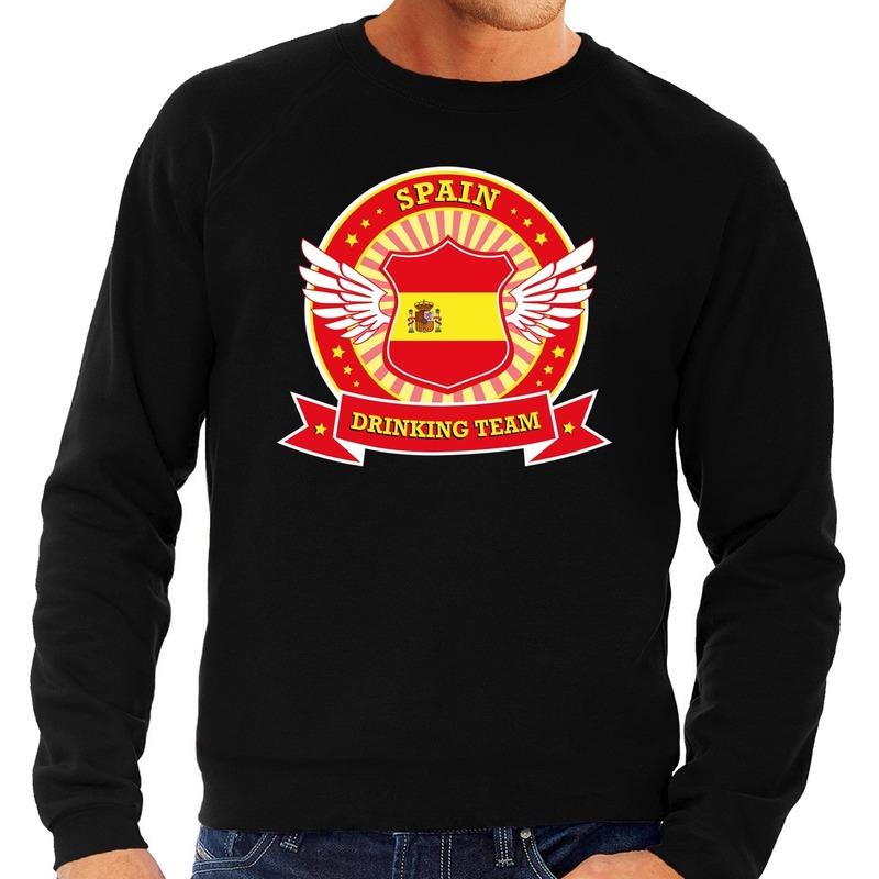 Zwart Spain drinking team sweater heren