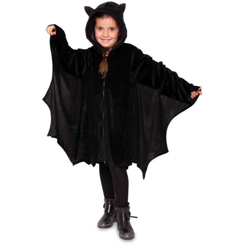 Zwart vleermuis verkleed jasje voor kinderen