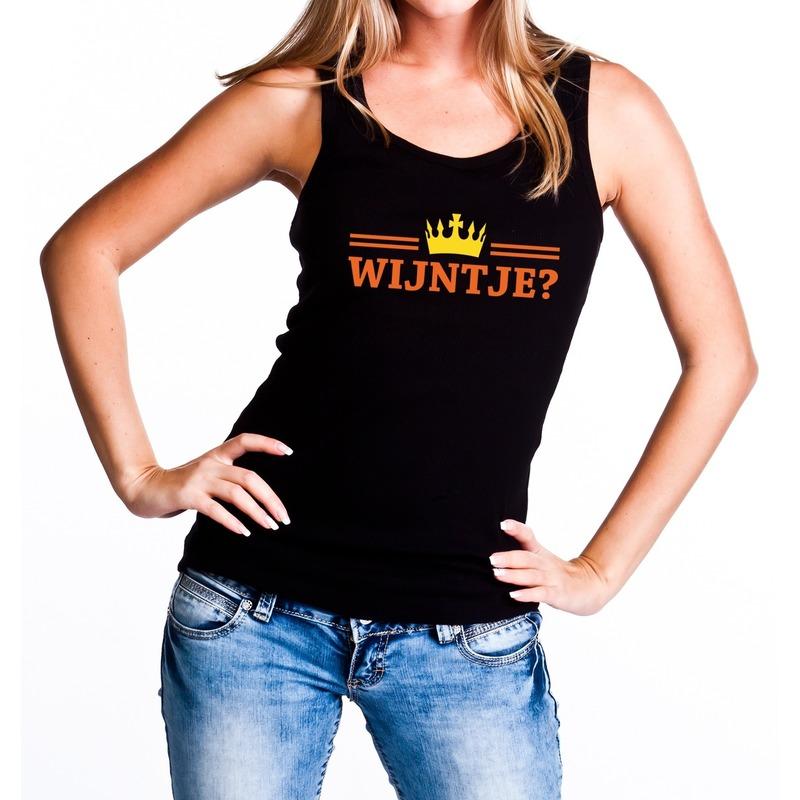 Zwart Wijntje en kroon tanktop - mouwloos shirt dames