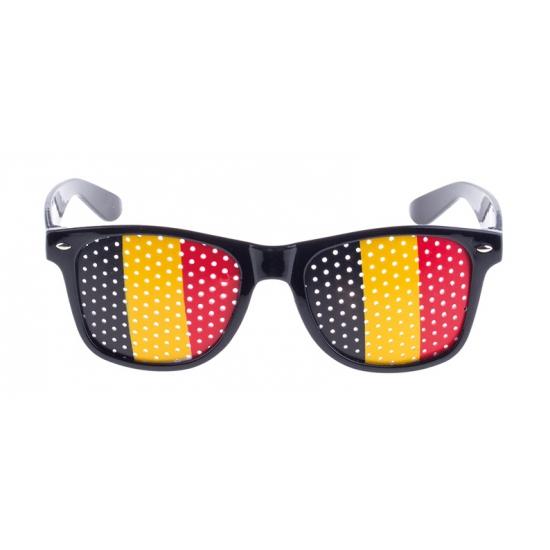 Zwarte Belgie supporters bril voor volwassenen