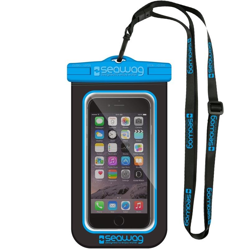 Zwarte/blauwe waterproof hoes voor smartphone/mobiele telefoon