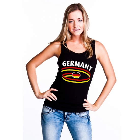 Zwarte dames tanktop Duitsland