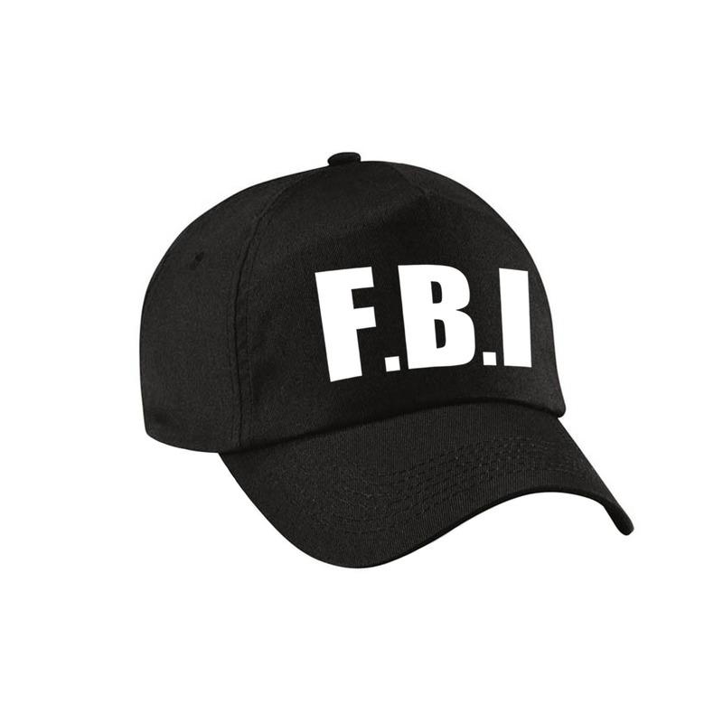 Zwarte FBI politie agent verkleed pet - cap voor volwassenen