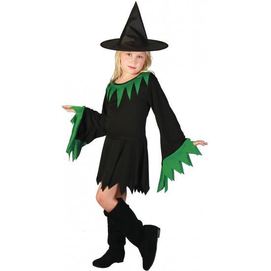Zwarte heksenjurk voor meisjes