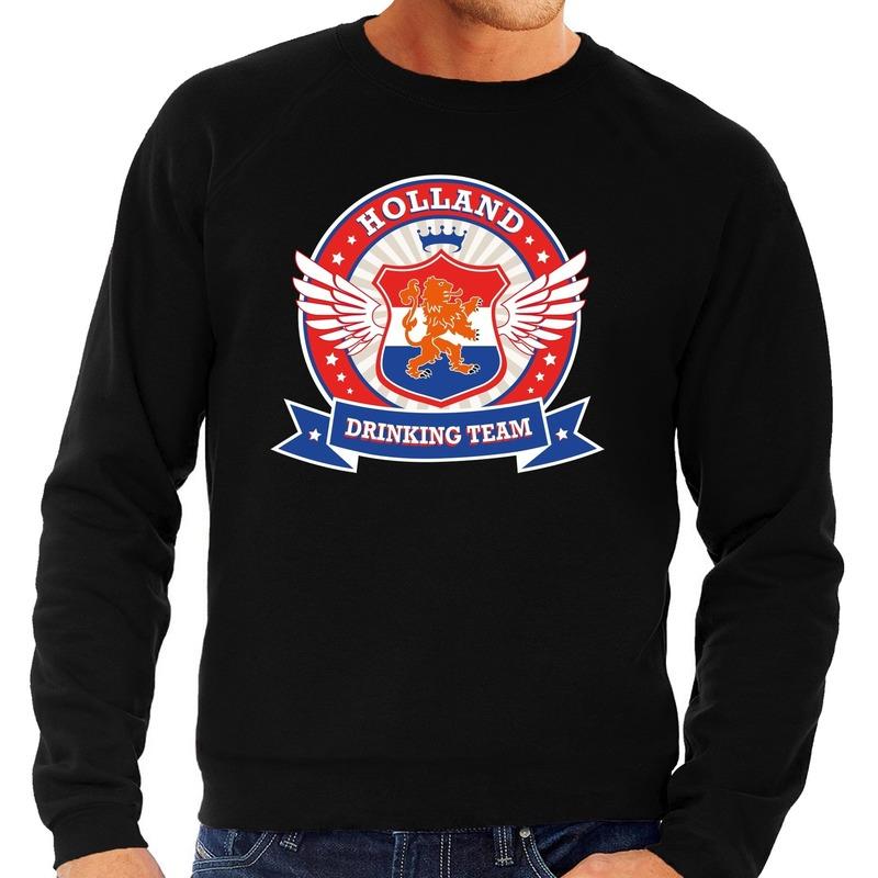 Zwarte Holland drinking team rwb sweater heren