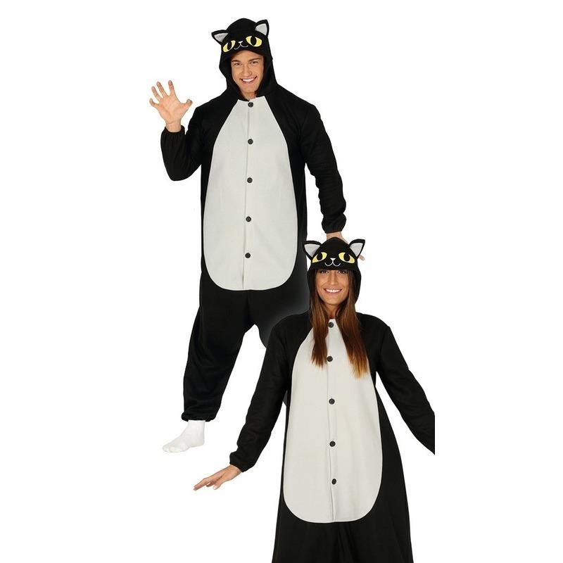 Zwarte kat/poes dieren verkleedpak voor dames