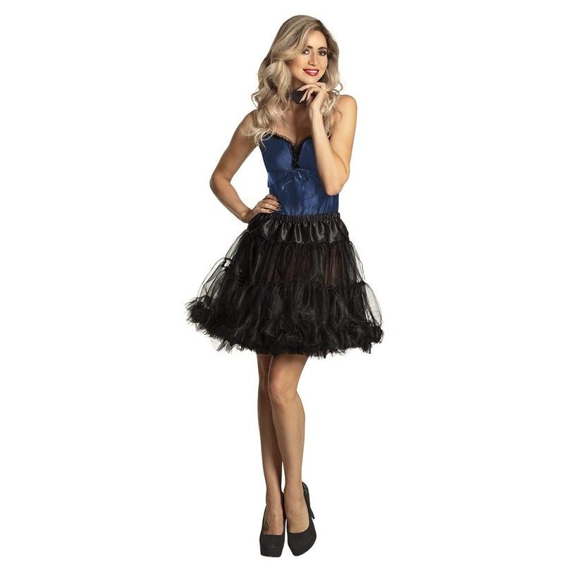 Zwarte petticoat rok voor dames 45 cm