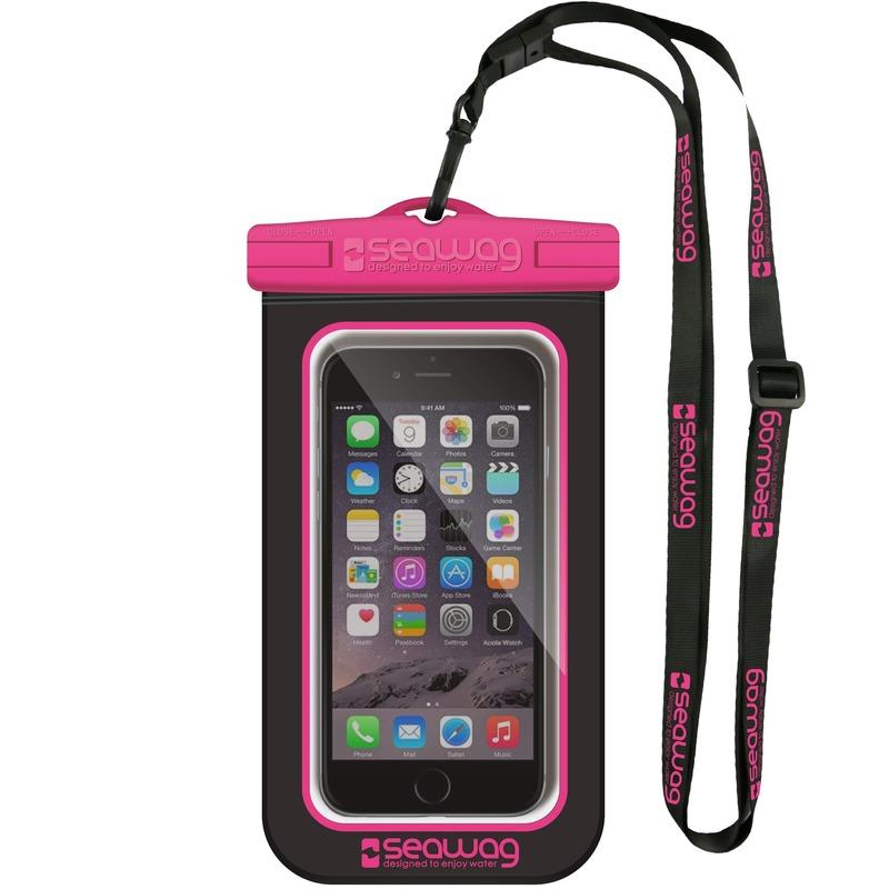 Zwarte/roze waterproof hoes voor smartphone/mobiele telefoon