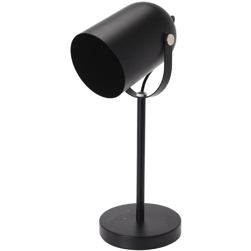 Zwarte schemerlamp-tafellamp-bureaulamp 44 cm