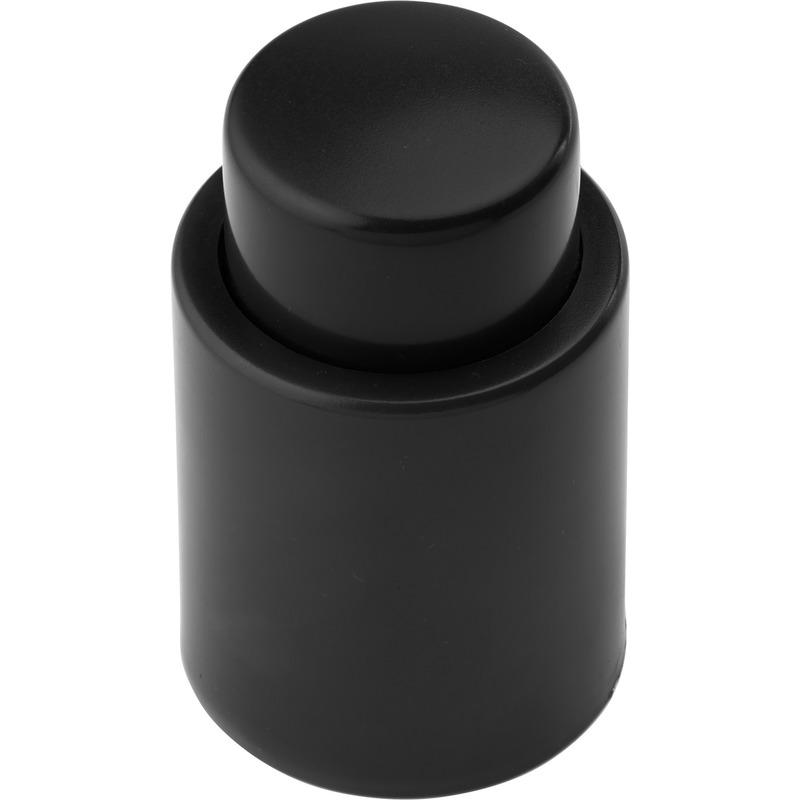 Zwarte vacuum wijnstopper/afsluitdop
