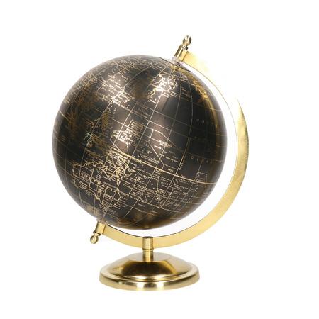 Decoratie Wereldbol Globe Goud Zwart Op Metalen Voet 22 X 27 Cm Deco Globe Wereldbollen Bellatio Warenhuis