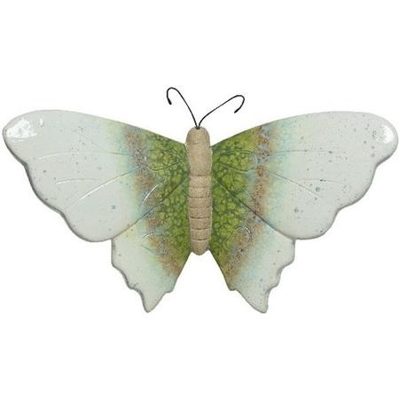 Stenen Vlinder Wit Groen 14 X 24 X 9 Cm Tuin Decoratie Tuinvlinders Bellatio Warenhuis